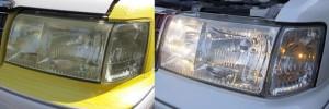 ヘッドライト黄ばみとり 磨き2