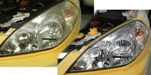 ヘッドライト黄ばみとり 磨き1