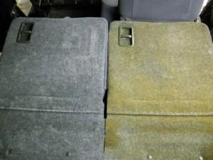 タバコのヤニ汚れ 車のルームクリーニング
