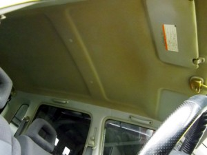 車 天井 タバコのヤニ汚れ