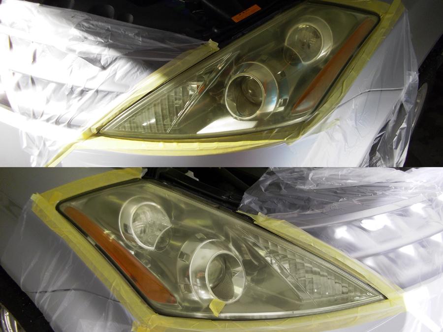 ヘッドライト黄ばみ、磨き/コーティング